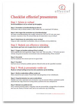 Effectief Communicatie checklist